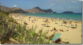 песочный пляж Порто Санто