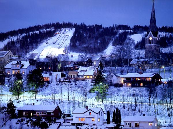 Лыжный курорт Норвегии Лиллехамер