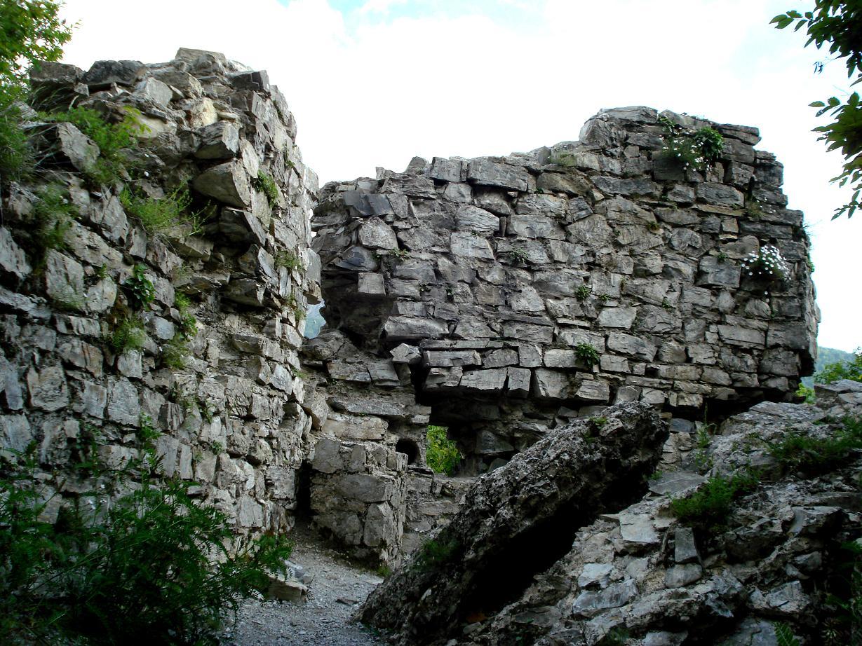 руины крепости  Шеки